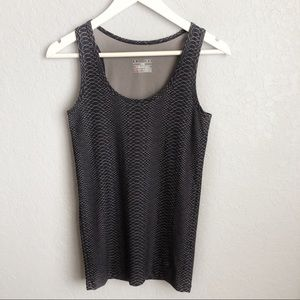 Under Amour Snake Scales Fitted Black Tank Top